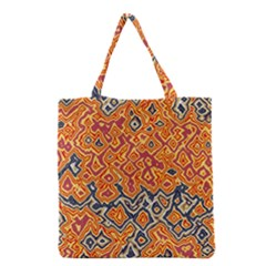 Red Blue Yellow Chaos Grocery Tote Bag