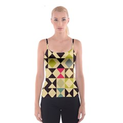 Rhombus and triangles pattern Spaghetti Strap Top