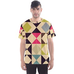 Rhombus And Triangles Pattern Men s Sport Mesh Tee