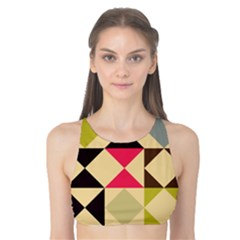Rhombus and triangles pattern Tank Bikini Top