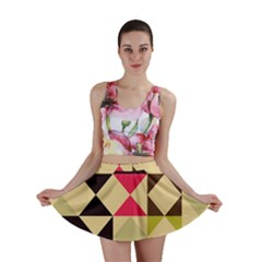 Rhombus and triangles pattern Mini Skirt