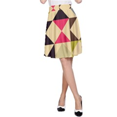 Rhombus And Triangles Pattern A Line Skirt