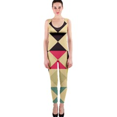 Rhombus and triangles pattern OnePiece Catsuit