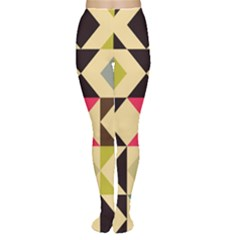Rhombus and triangles pattern Tights