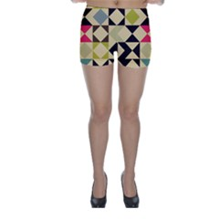 Rhombus and triangles pattern Skinny Shorts