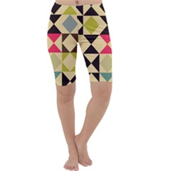Rhombus and triangles pattern Cropped Leggings