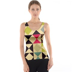 Rhombus and triangles pattern Tank Top