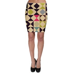 Rhombus And Triangles Pattern Bodycon Skirt