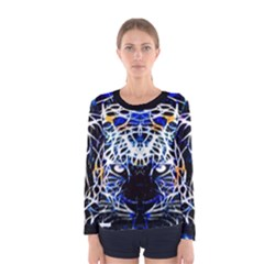 Officially Sexy Panther Collection Blue Women s  Long Sleeve T Shirt