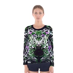 Officially Sexy Panther Collection Green Long Sleeve T Shirt