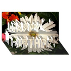 Daisyc Happy Birthday 3D Greeting Card (8x4)