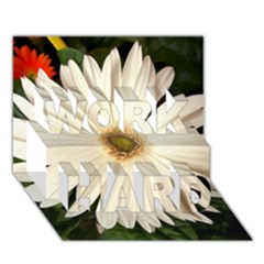 Daisyc WORK HARD 3D Greeting Card (7x5)