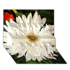 Daisyc Thank You 3d Greeting Card (7x5)