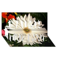 Daisyc Laugh Live Love 3D Greeting Card (8x4)
