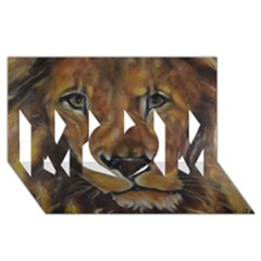 Cecil The African Lion MOM 3D Greeting Card (8x4)