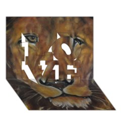 Cecil The African Lion LOVE 3D Greeting Card (7x5)