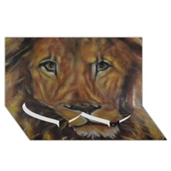 Cecil The African Lion Twin Heart Bottom 3d Greeting Card (8x4)