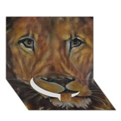 Cecil The African Lion Circle Bottom 3D Greeting Card (7x5)
