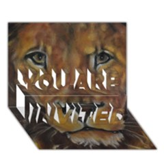 Cecil The African Lion YOU ARE INVITED 3D Greeting Card (7x5)