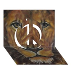 Cecil The African Lion Peace Sign 3D Greeting Card (7x5)