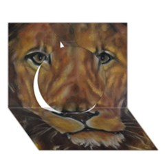 Cecil The African Lion Circle 3d Greeting Card (7x5)