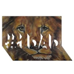 Cecil The African Lion #1 Dad 3d Greeting Card (8x4)