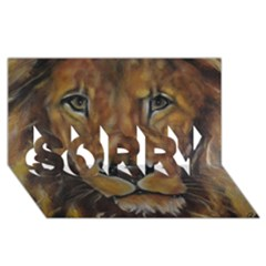 Cecil The African Lion SORRY 3D Greeting Card (8x4)
