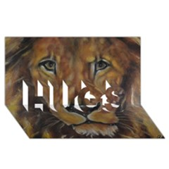 Cecil The African Lion Hugs 3d Greeting Card (8x4)