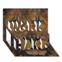 Cecil The African Lion Work Hard 3d Greeting Card (7x5)