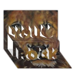 Cecil The African Lion You Rock 3d Greeting Card (7x5)