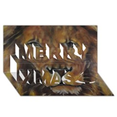 Cecil The African Lion Merry Xmas 3D Greeting Card (8x4)