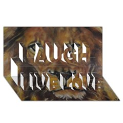 Cecil The African Lion Laugh Live Love 3d Greeting Card (8x4)