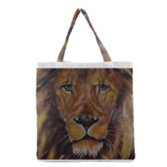 Cecil The African Lion Grocery Tote Bags