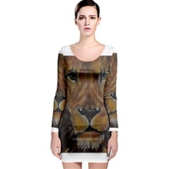 Cecil The African Lion Long Sleeve Bodycon Dresses