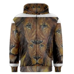 Cecil The African Lion Men s Zipper Hoodies