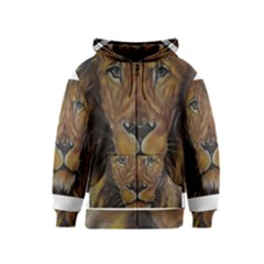 Cecil The African Lion Kids Zipper Hoodies