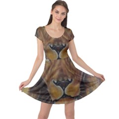 Cecil The African Lion Cap Sleeve Dresses