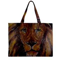 Cecil The African Lion Zipper Tiny Tote Bags