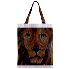 Cecil The African Lion Zipper Classic Tote Bags