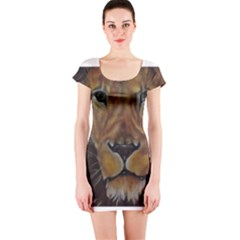 Cecil The African Lion Short Sleeve Bodycon Dresses