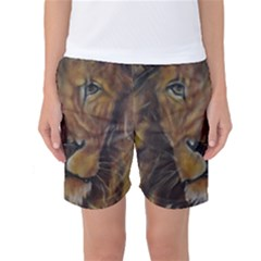 Cecil The African Lion Women s Basketball Shorts