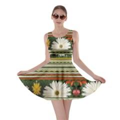 Pattern Flower Skater Dresses