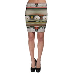 Pattern Flower Bodycon Skirts