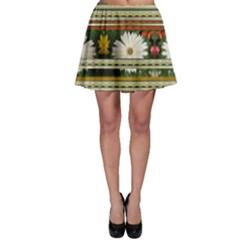 Pattern Flower Skater Skirts