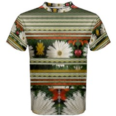 Pattern Flower Men s Cotton Tees