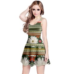 Pattern Flower Reversible Sleeveless Dresses