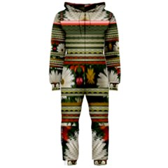 Pattern Flower Hooded Jumpsuit (ladies)