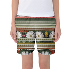 Pattern Flower Women s Basketball Shorts