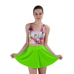 Bright Fluorescent Neon Green Mini Skirts
