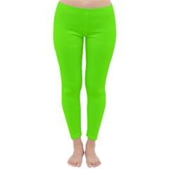 Bright Fluorescent Neon Green Winter Leggings